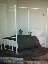 white canopy bed - twin