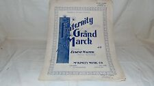 VINTAGE SHEET MUSIC 1901 FRATERNITY GRAND MARCH