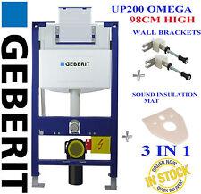 Geberit Duofix Omega UP200 98cm wall hung toilet frame + wall brackets & mat H98