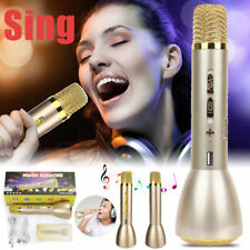 Wireless Bluetooth Karaoke Microphone Usb Speaker Mini Home Ktv Gold
