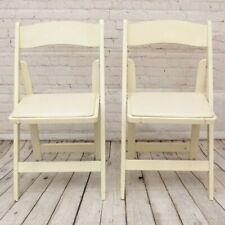 Set of 6 Vintage Foldable Banquet Chairs Wood