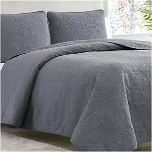 Mellanni Bedspread Coverlet Set 3-Piece Oversized Bed Cover, Ultrasonic Quilt