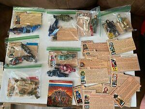 HUGE Vintage GI Joe & Cobra Figure Lot: Mixed Weapons/Accessories/File Cards