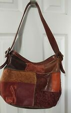 Fossil patchwork leather handbag