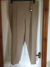 M & S Classic Pull On Trousers UK 24 Medium Neutral Elasticated Waist BNWT