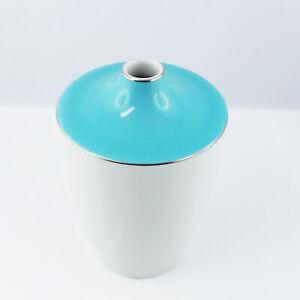 Meissen Vase Cosmopolitan Miami blau Platin Porzellan 11cm 1.Wahl 50530
