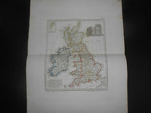 1847 COPPER ENGRAVING MAP OF GREAT BRITAIN ENGLAND WALES SCOTLAND EIRE N.IRELAND