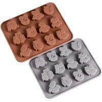 Silicone Mold Design Chocolate 12 bonbons Hibou Pour Savon Moule Moule À Gâteau