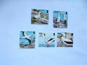 ASCENSION ISLAND  2004 Birdlife Int'l Masked Booby 5 stamps U/M  Sg889/93