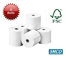 More details for 5 paper rolls star p12d printing audit calculator 57 x 57mm plain paper by smco