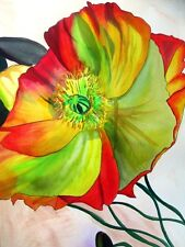 ORIGINAL ART - Macro Poppy watercolour