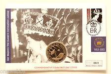 2003 ELISABETTA II Giubileo d'oro SIERRA LEONE $1 Copertina Gibilterra TIMBRO SNo27075