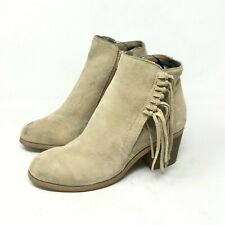 REACTION KENNETH COLE Women's Ankle Leather Boots Color Cream Size:5M