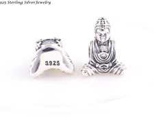 Authentic.925 Solid Sterling European Charm Fits PAN BRACELET  BUDDHA CHARM