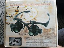 25X Magnifier Eye Glass Loupe Jeweler Watch Repair Kit LED Light 20X Magnifying