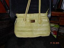 Marzia medium green vintage quilted ladies shoulder/tote bag