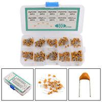 300pc 10valori 50V 10pF~100nF Condensatori Ceramici Multistrato Assortimento Kit