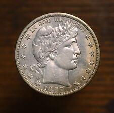 Raw 1907-D Barber 50C Uncertified Ungraded Denver CO US Mint Silver Half Dollar