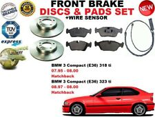 FOR BMW 3 E36 HATCHBACK COMPACT 93-98 FRONT BRAKE DISCS SET + PADS KIT + SENSOR