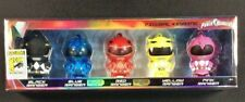 POWER RANGERS 2017 SDCC EXCLUSIVE KEY RING BOXED SET BLACK BLUE RED YELLOW PINK