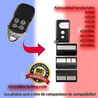 4330EML,4332EML.4333EML.4335EML compatible émetteur Replacement la télécommande