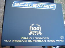 SCALEXTRIC CRAIG LOWNDES 100 ATCC / V8 SUPERCAR RACE WINS!.