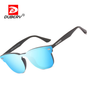 DUBERY Rimless Square Sunglasses For Men Women Outdoor Driving Cycling Glasses