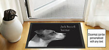 61cmx40.6cm Jack Russell Terrier noir brouillon DESSIN Porte d'entrée