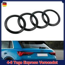 Audi Ringe hinten Emblem glänzend Schwarz Gitter Abzeichen Für Audi 215*70MM