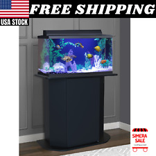 Aquarium Stand 20/29 Gallon Solid Wood Storage Fish Tank Not Included, Black