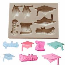 Graduation Silicone Fondant Icing Mould Cake Topper Mold Decoration Sugarcraft