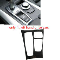 for BMW X6 E71 2008-2009 Carbon Fiber Black Gear Shift Box Panel Cover Trim 1pcs