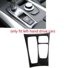 Black Carbon Fiber Gear Shift Box Panel Cover Trim 1pcs For BMW X5 E70 2007-2009