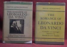 2 Variant Modern Library Copies ROMANCE OF LEO. DA VINCI Jackets Balloon Cloth