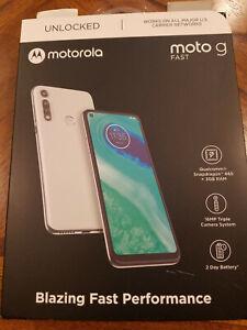 """Moto G Fast (32GB, 3GB) 6.4"""" Dual SIM (GSM+VERIZON) Unlocked XT2045-3 (White)"""
