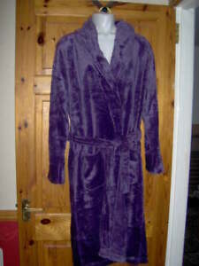LADIES - OH SO SOFT! DRESSING GOWN/ROBE  -PURPLE SIZE S