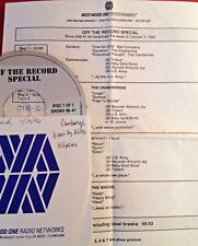 RADIO SHOW: OFF THE RECORD SPECIAL 10/7/96 CRANBERRIES, GRAVITY KILLS,THE NIXONS