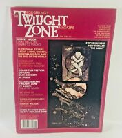 Twilight Zone Magazine June 1981 Rod Serling Stephen King The Jaunt Vol 1 No 3