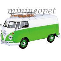 MOTORMAX 79551 VW VOLKSWAGEN TYPE 2 T1 DELIVERY VAN 1/24 DIECAST GREEN WHITE