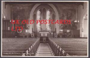 Kent -  SEASALTER, St Alphege Church, Interior View, Real Photo West & Son,