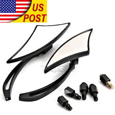 Black Rear View Side Mirrors For Yamaha Road Star XV 1600 1700 Warrior Silverado