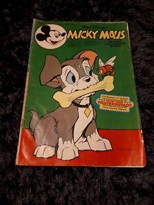 MICKY MAUS 1977 Heft 9 + BEILAGE Werbedoppelseite + Mickys Buchklub Antwortkarte