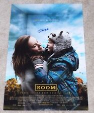YOUNG ACTOR JACOB TREMBLAY SIGNED 'ROOM' 12x18 MOVIE POSTER PHOTO W/COA PROOF