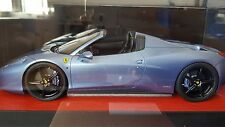 1/18 MR Ferrari 458 Italia Spider open Top Azzurro red leather base Not BBR