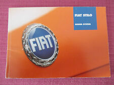 FIAT Stilo radio/CD/CASSETTE SOUND SYSTEM Audio Handbook-Manuale (yjl 155+)
