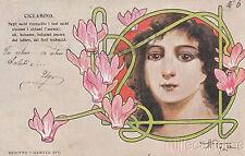 LIBERTY - DONNA E CICLAMINO - CRAFFONARA 1903