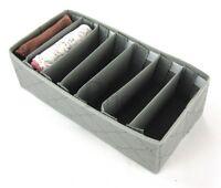 Drawer Organiser 7 Adjustable Slots. Storage Solution box socks organiser