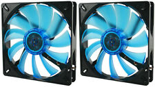 2 x Gelid Solutions WING 14 UV BLU 140mm Ultraviolet reattiva silenziosa Case Fan