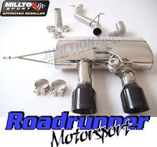 "Milltek Golf R mk6 Cat Back Exhaust 2.75"" non res Valved black tails ssxvw140"
