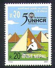 Népal 2001 réfugiés/Protection/santé/Commissaire/Camping/animation 1 V (n37211)